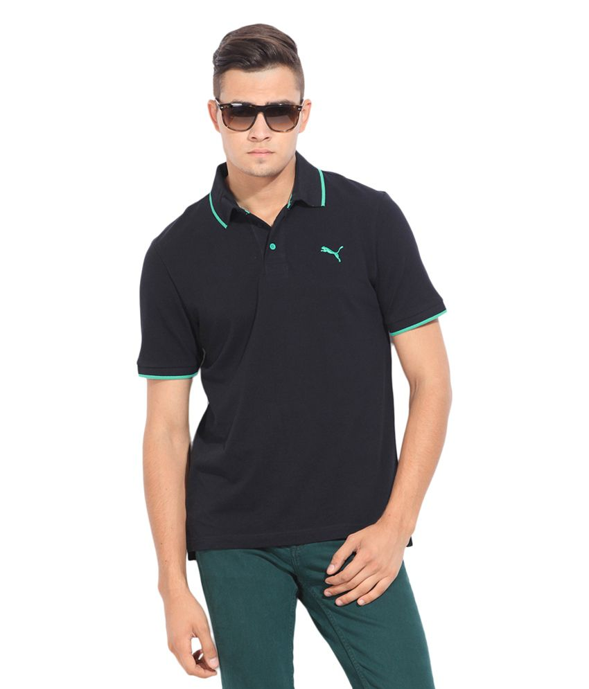 Puma Black Polo T-shirt