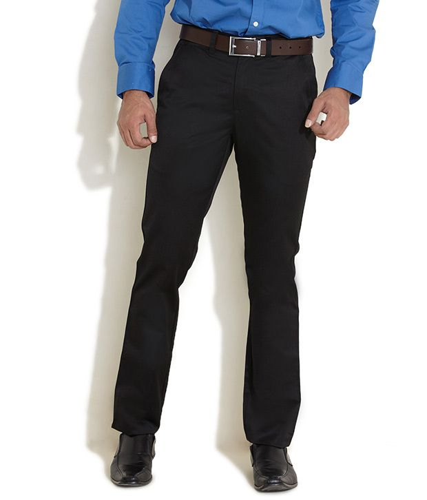 Scullers Black Everyday Essential Easy Care Chinos