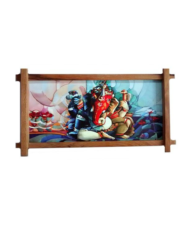 Gifts And Arts Sri Ganesh Beautiful Dabholkar Painting Wall Frame
