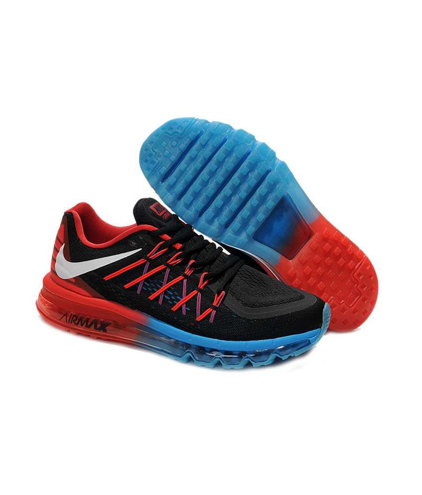 competitive price 38abd 990b5 ... Nike Air Max 2015 Black Running Shoes ...
