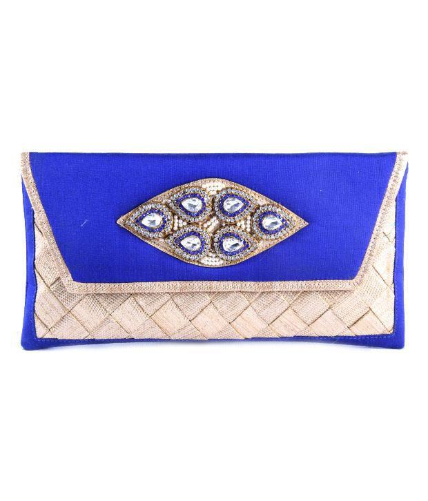Saisha Fcb0180 Blue Clutch