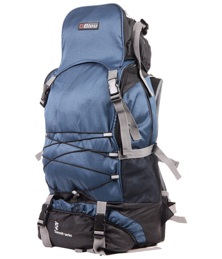 Bleu Blue Black Hiking Rucksack