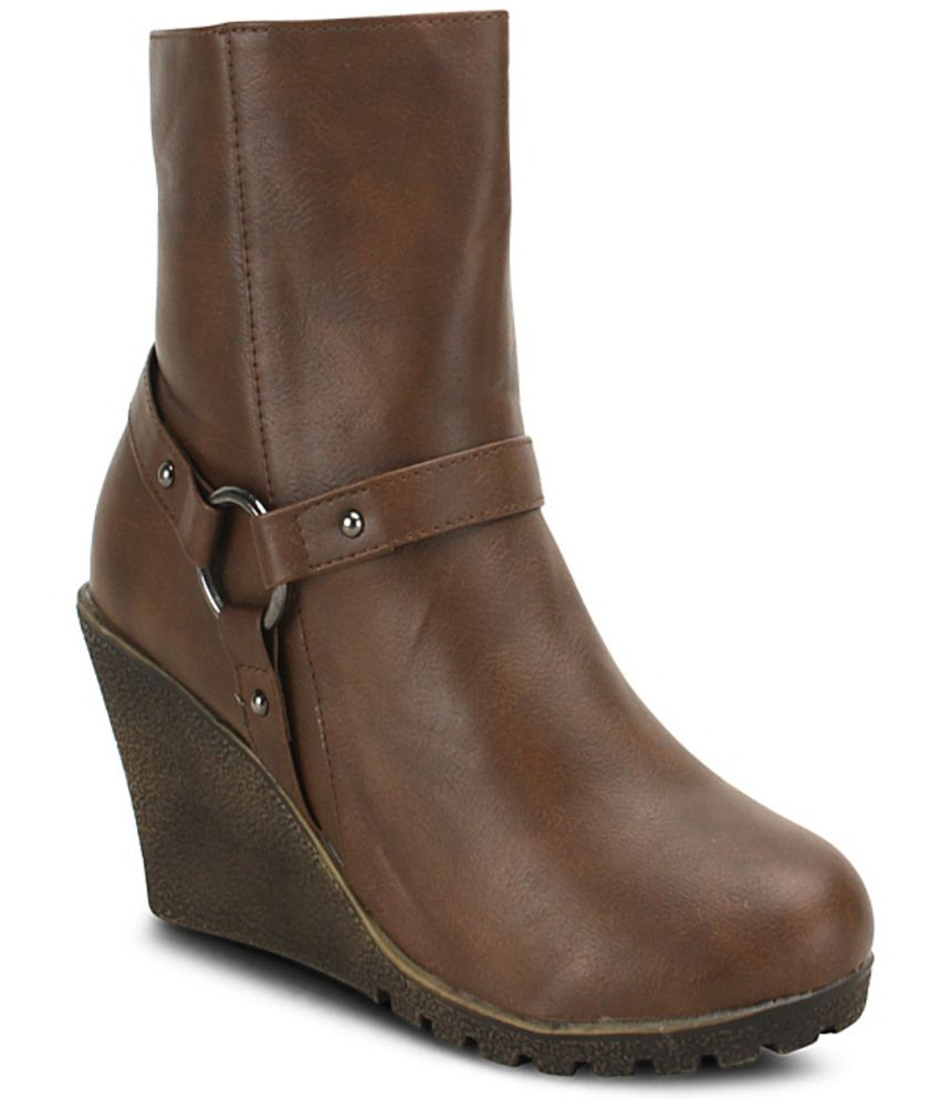 get glamr brown wedges boots price in india buy get glamr