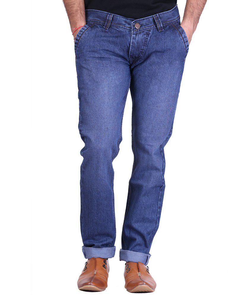 Kaasan Blue Cotton Regular Jeans