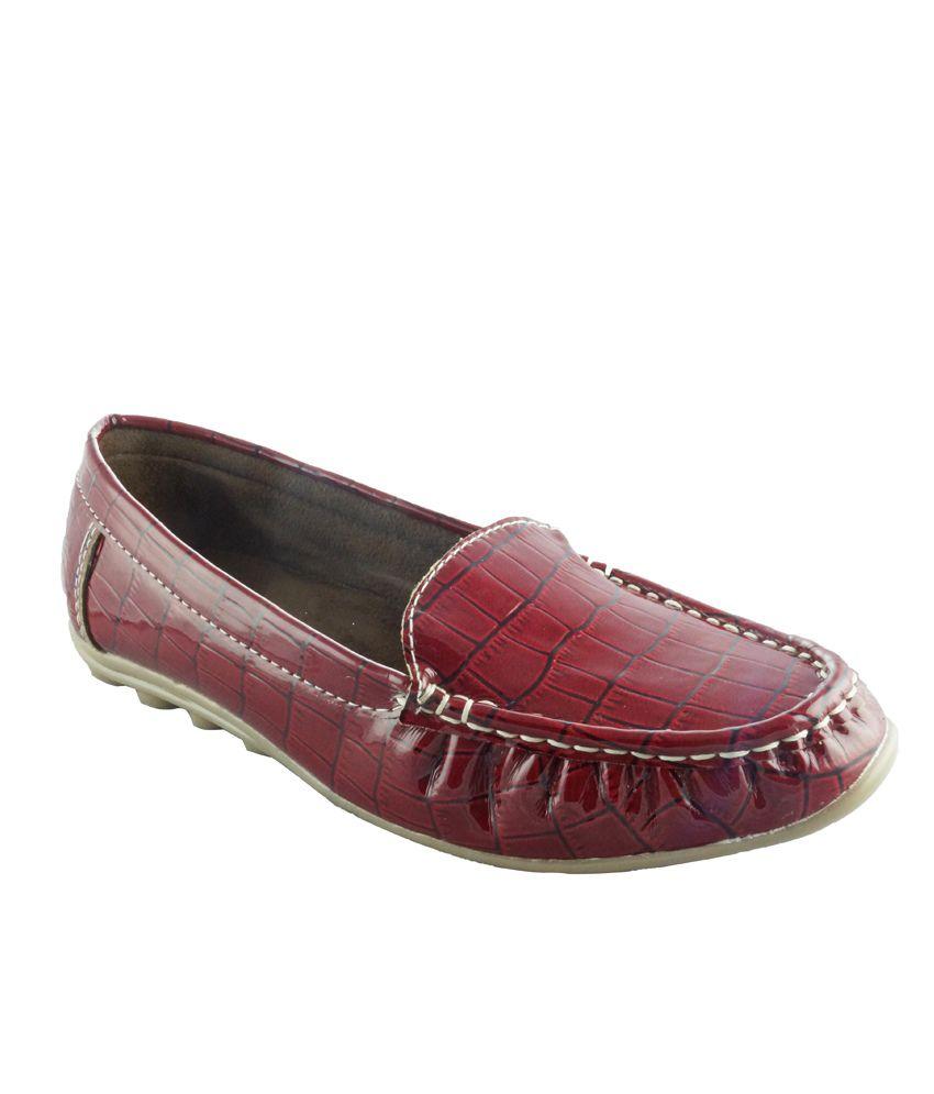 Remson India Red Shinny Formal Loafer