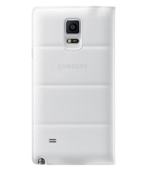 new product 51cbe 016c7 Samsung S-view Flip Cover Case For Galaxy Note 4 (frost White)