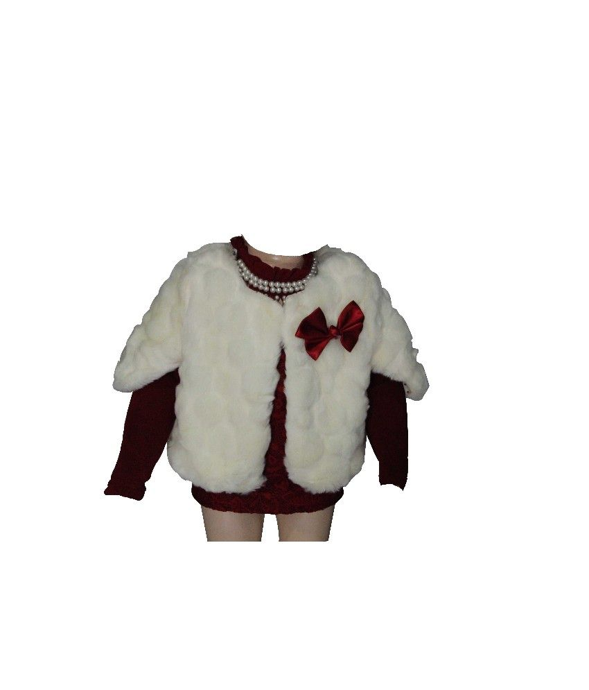 Habooz Full Sleeves Cream Color Jacket For Kids