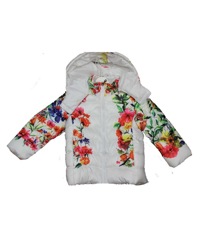Habooz Full Sleeves White Color Jacket For Kids
