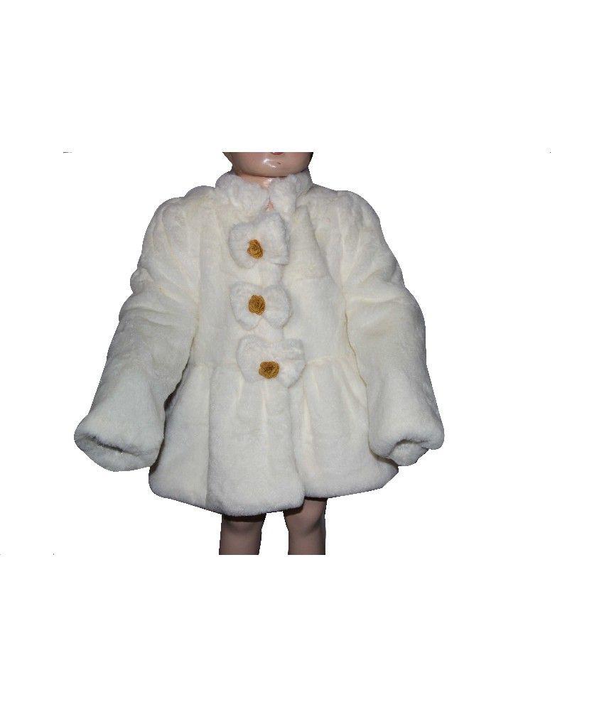 Habooz Full Sleeves White Color Jacket For Kids