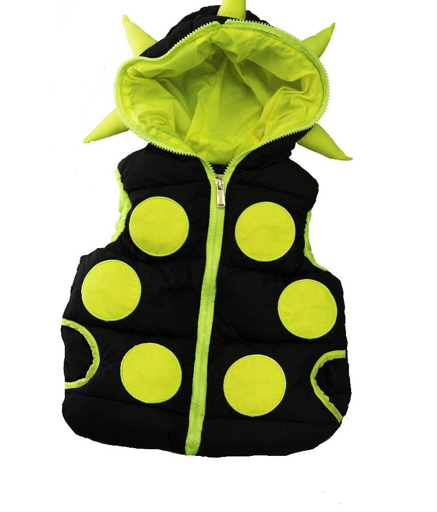 Habooz Half Sleeves Green & Black Color Jacket For Kids
