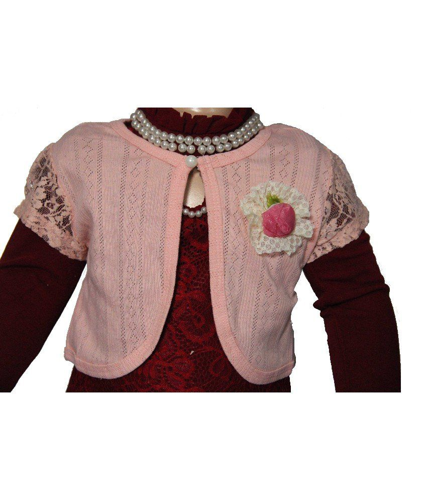 Habooz Half Sleeves Peach Color Shrug For Kids - Buy Habooz Half Sleeves  Peach Color Shrug For Kids Online at Low Price - Snapdeal a21d1ebf8