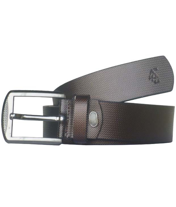 Sondagar Arts Brown Casual Leather Belt For Men's