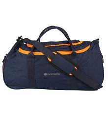 Harissons Navy Blue & Neon Orange Float Travel Duffle Bag 37L