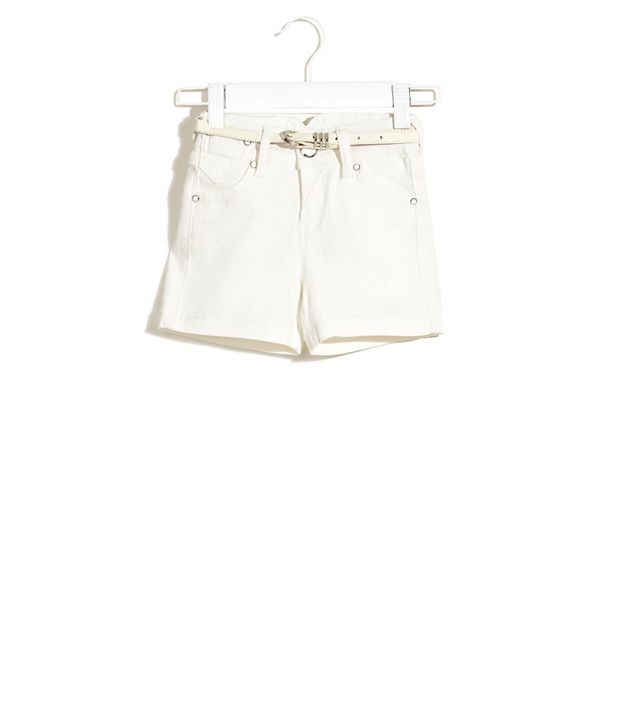 Deal Jeans Kids White Fair Game Play-Time Solid Shorts