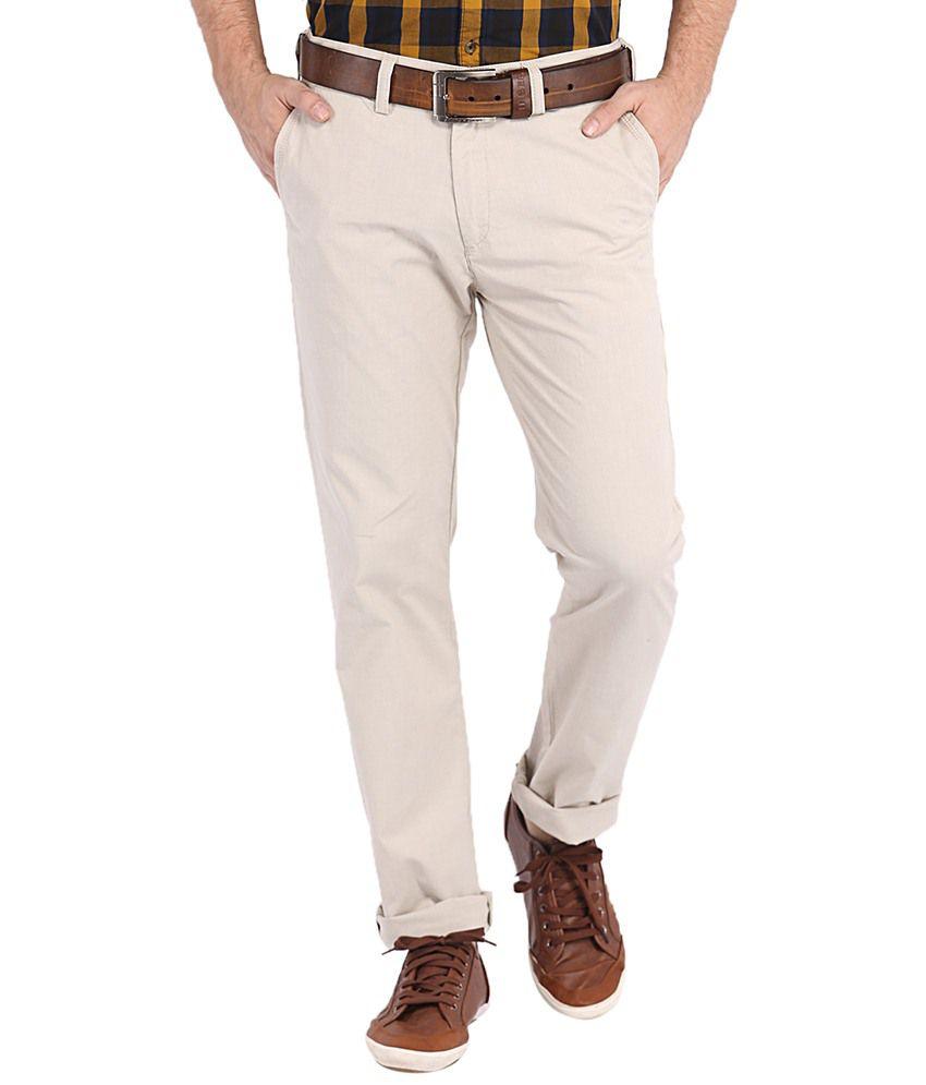 Highlander Beige Slim Semi Formals