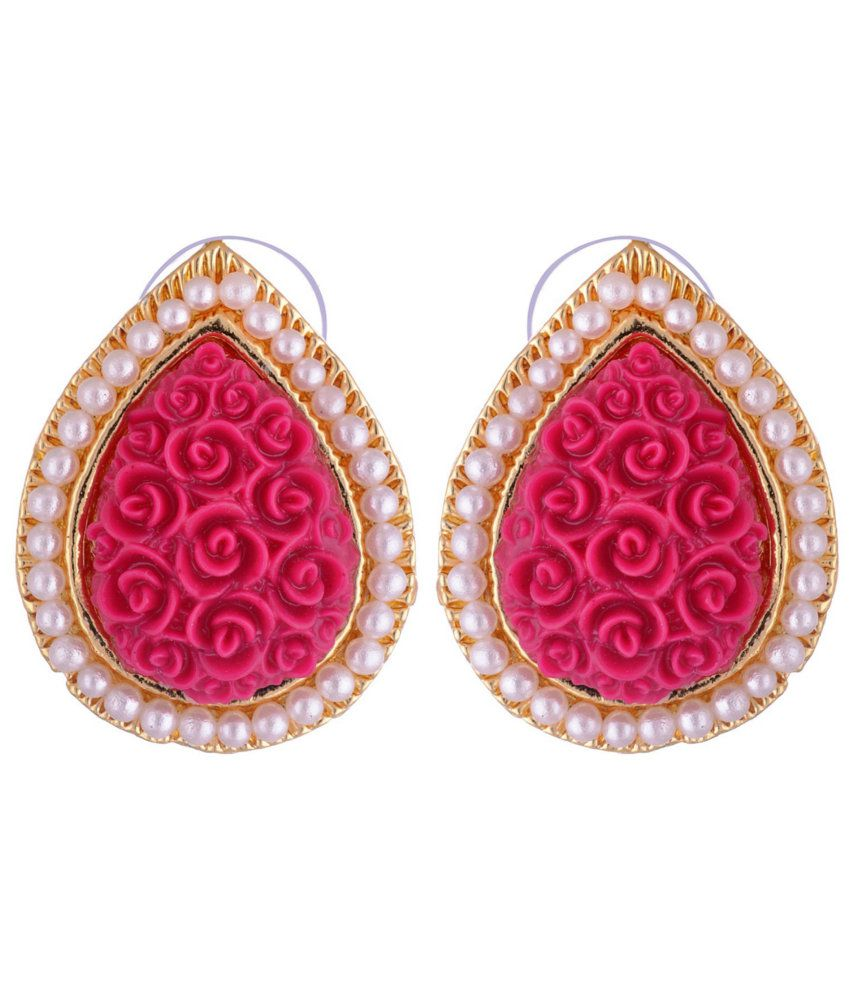 Kshitij Traditional Pink Stud Earrings