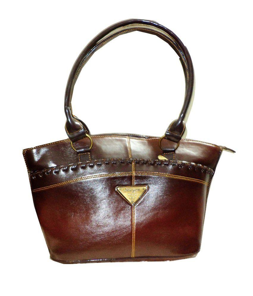 Sam-aira Brown Zip Shoulder Bag
