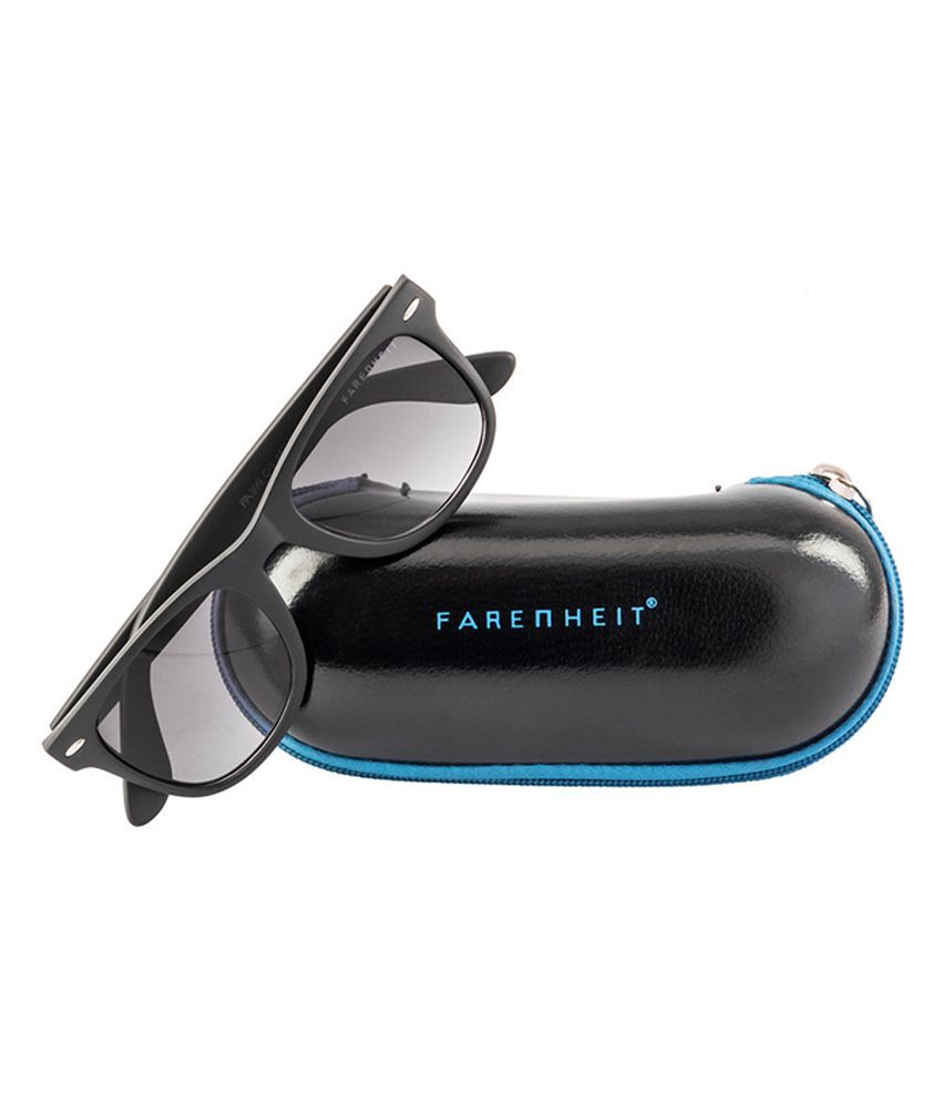 metal wayfarer sunglasses  Farenheit SOI-FA-999-C1 Black/Gray Wayfarer Sunglasses - Buy ...