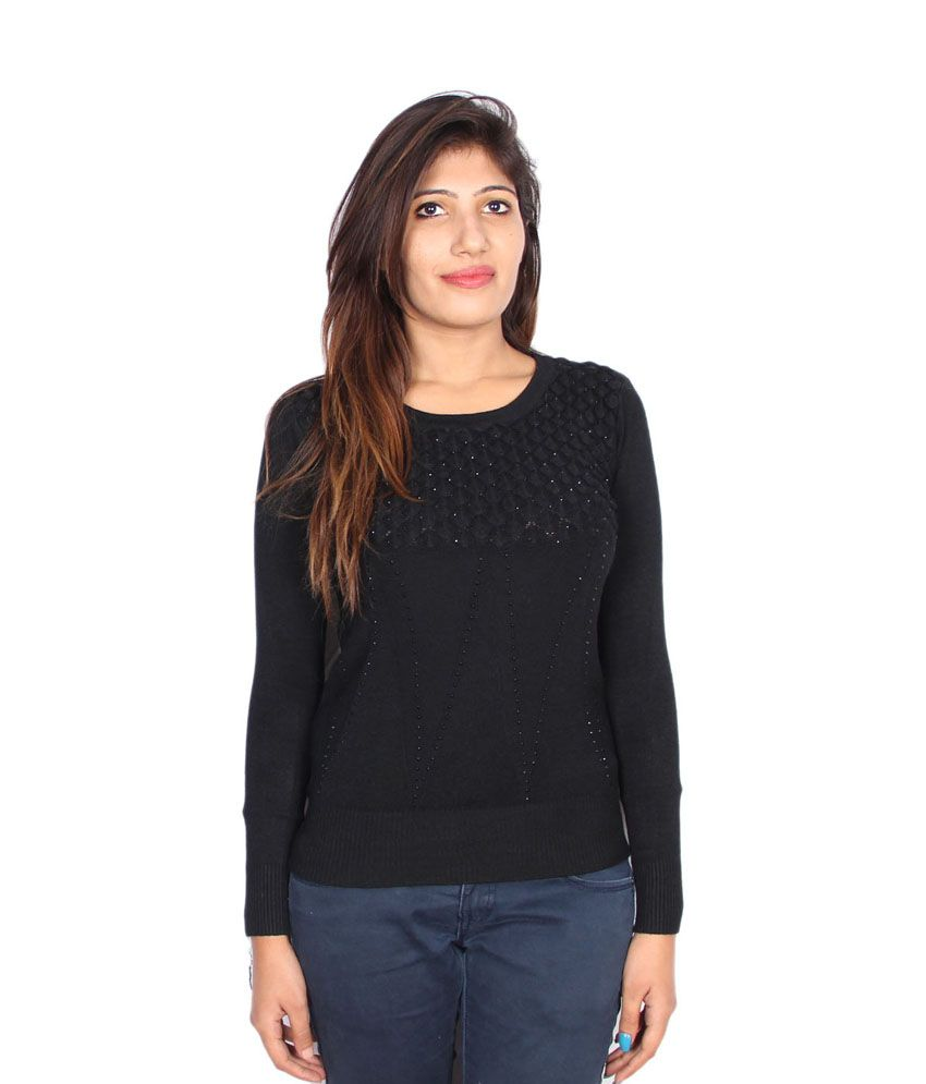 a3a8a1e6a599 Buy Gnc Black Woollen Full Women s Sweater Online at Best Prices in India -  Snapdeal