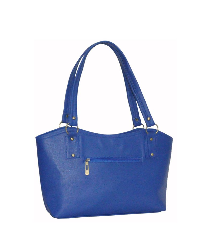 Utsukushii Blue Pu Handbag