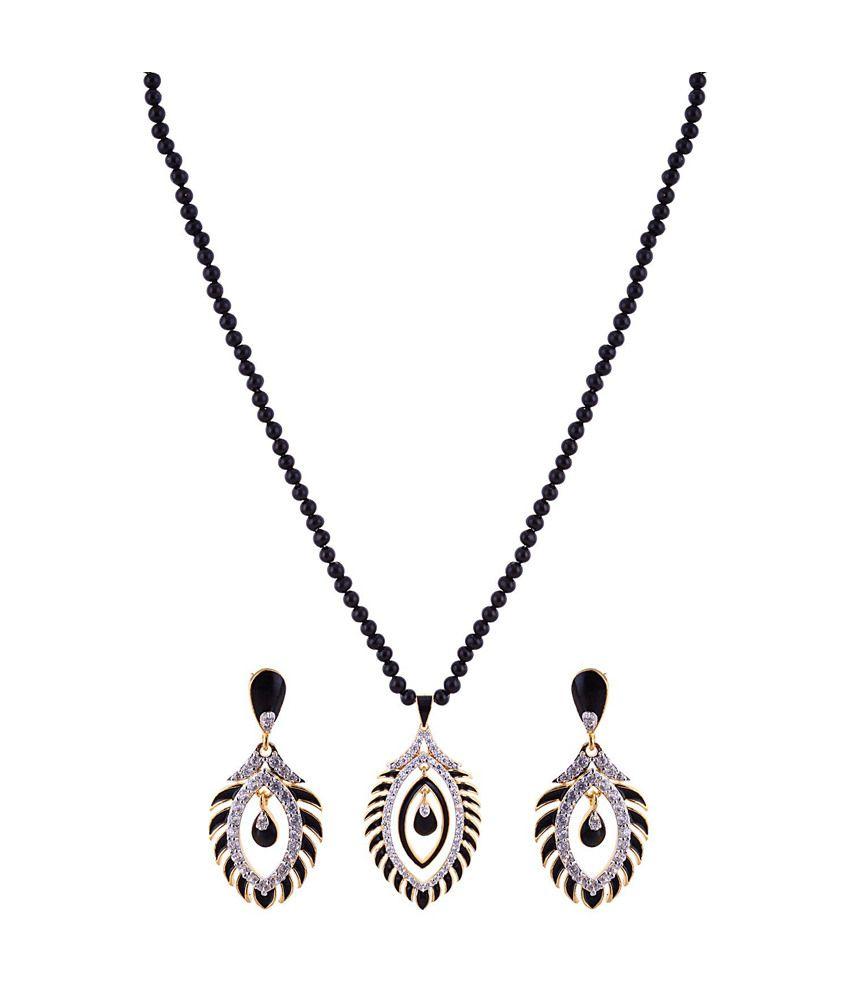 Sai Shagun Jewels Minakari Brown Color Elegent Pendent Set