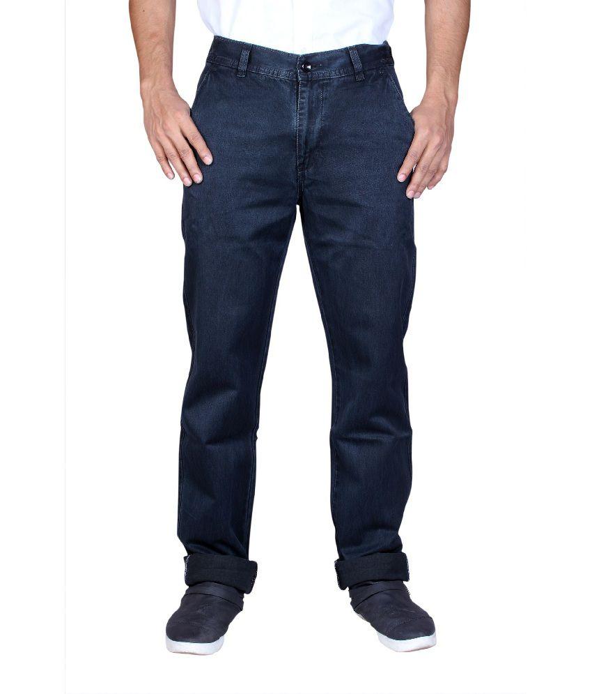 Male Standard Decent Cotton Blue Jeans