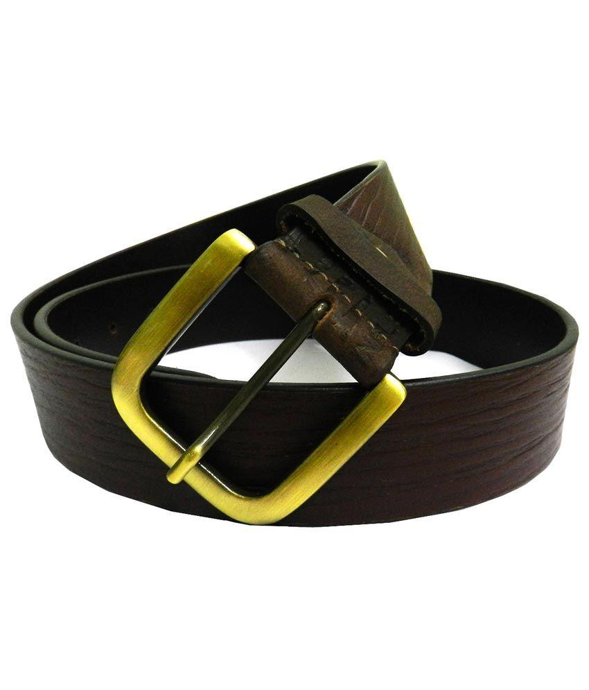 Purple Tree Leather Brown Formal Belt