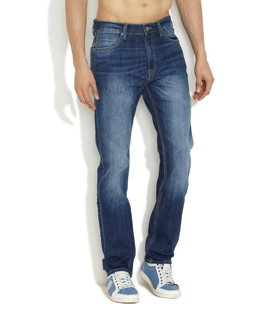 Lee Medium Blue Toughen Up Slim Fit Jeans