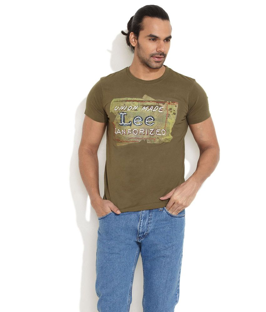 Lee Olive green Sanforized T-Shirt