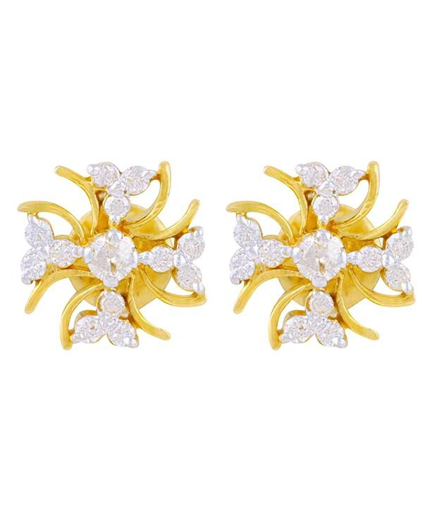 Mehrasons 14 Kt Gold 0.700 Ct Diamond Earrings