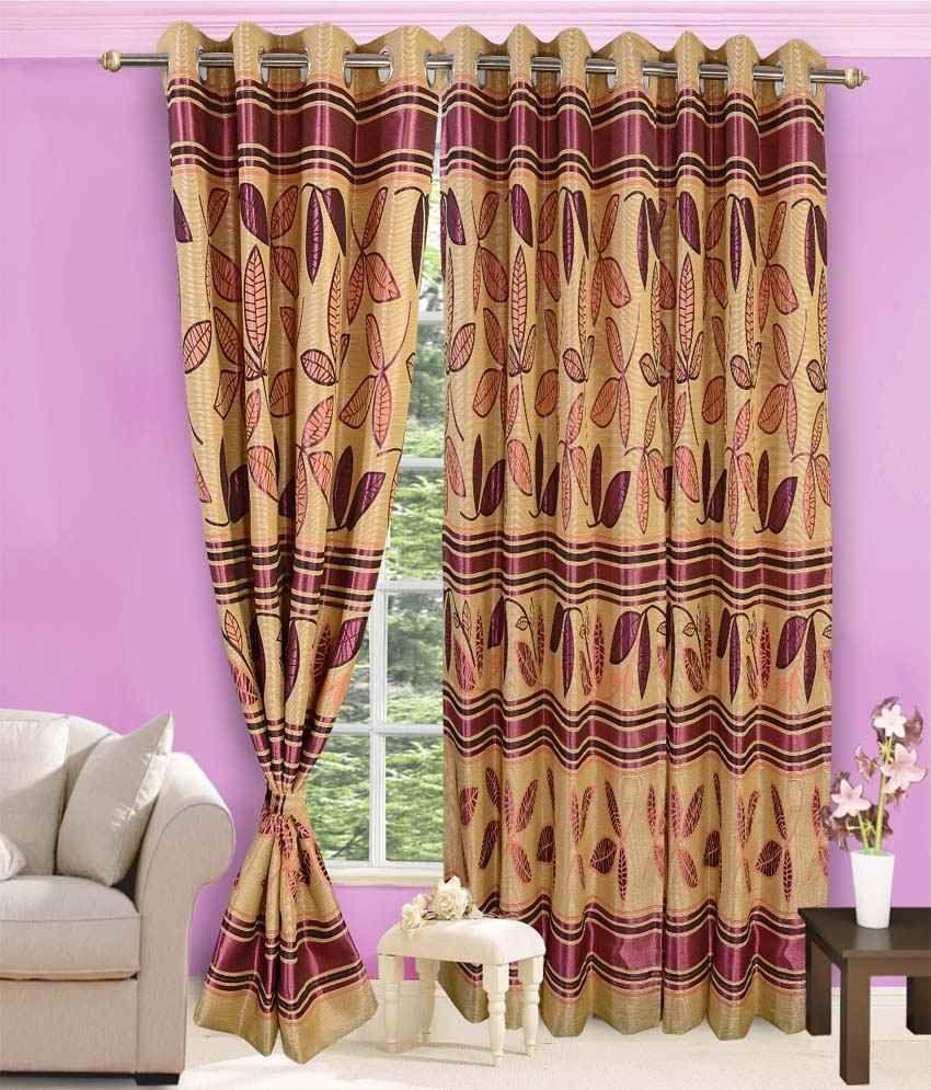vorhang single door eyelet curtain floral beige pink buy. Black Bedroom Furniture Sets. Home Design Ideas