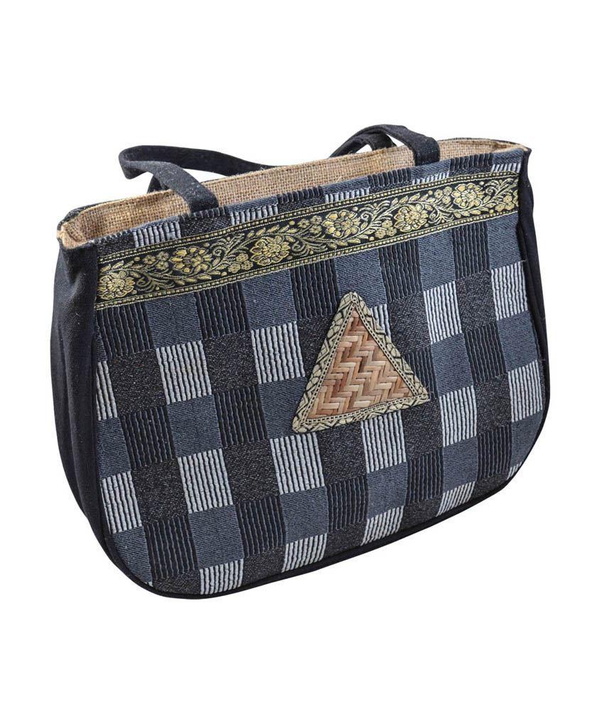 Mpkart Grey Oval Check Design Shoulder Bag