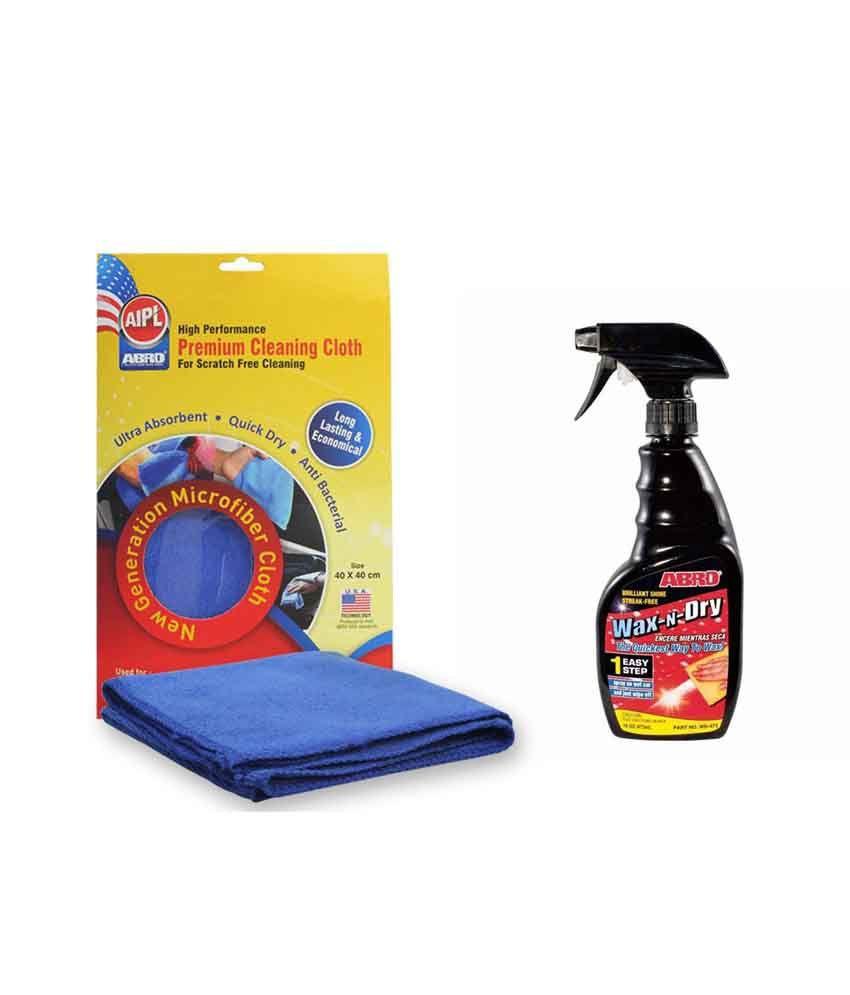 ABRO 1 Step Wax N Dry WD - 473 (473 ml)+Microfiber Cloth