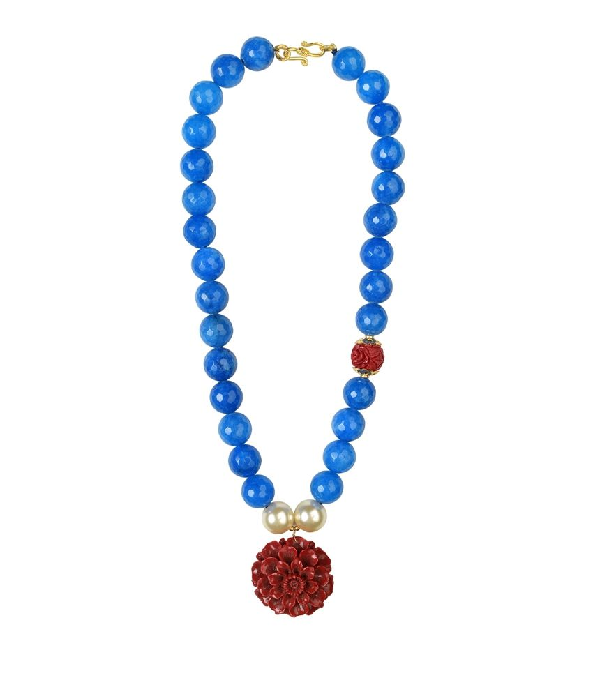 Dhoot Jewels Blue Modern Beads Necklace Set
