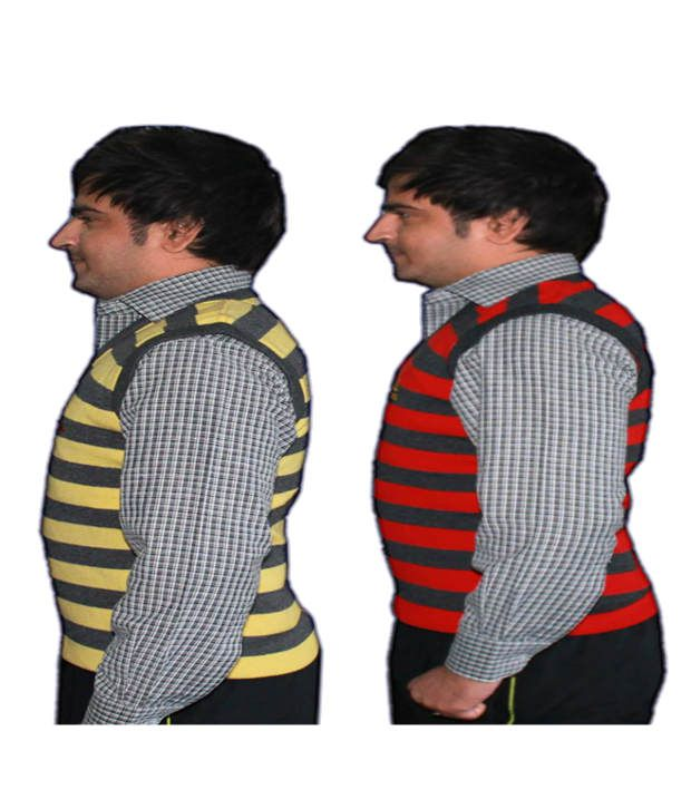 Oswal Men Striped Half Sleeves Sweater Pack Of 2 Buy Oswal Men