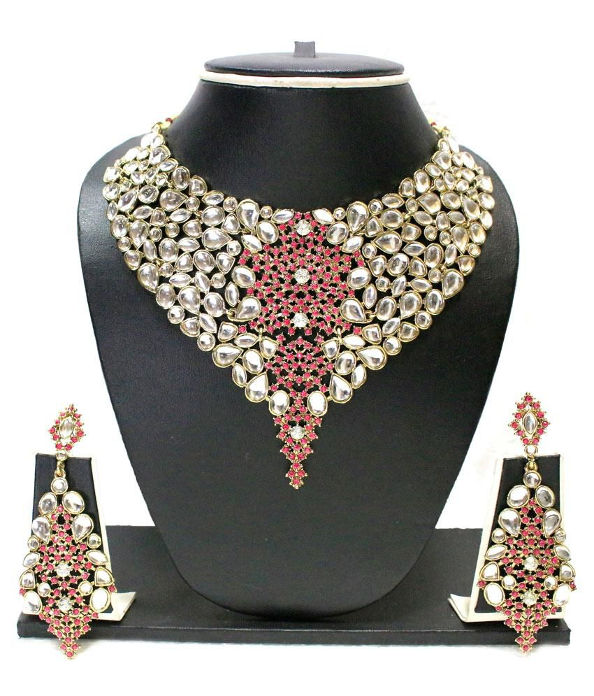 Zaveri Pearls Designer Necklace Set