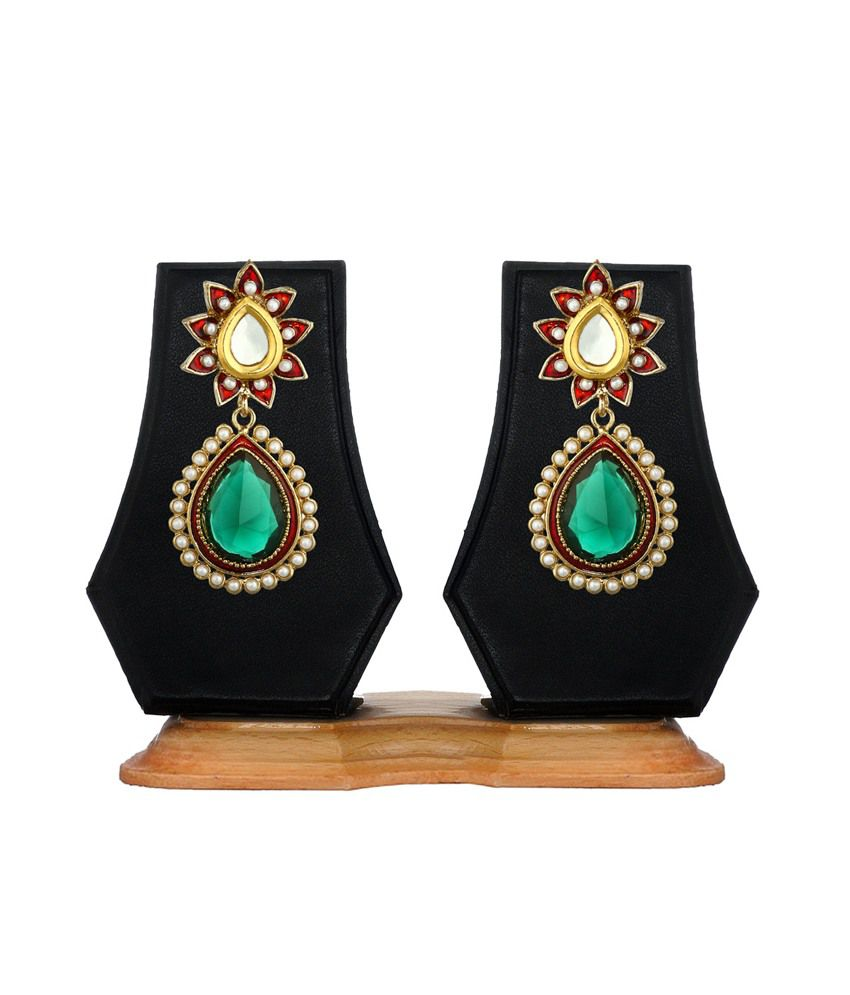 Zaveri Pearls Multicoloured Hanging Earring