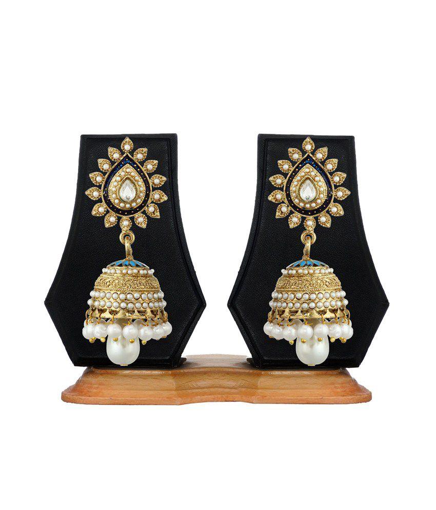 Zaveri Pearls Multicoloured Jhumki Earring
