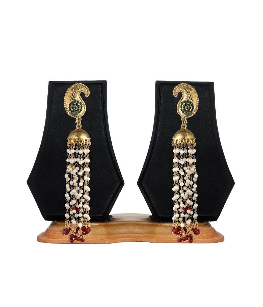 Zaveri Pearls Multicoloured Pearl Bead Hanging Earring