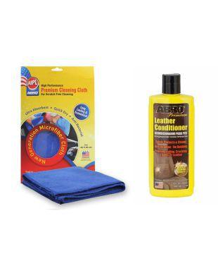 ABRO Car Leather conditioner LC-750 (240 ml)+Microfiber Cloth