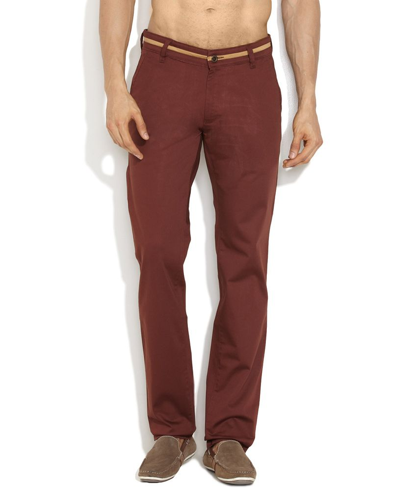 Canary London Dark Red Stretchy Comfort Trousers