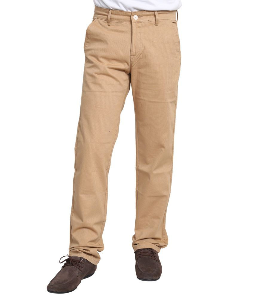 Dare Stylish Khaki Color Comfort Fit Jeans