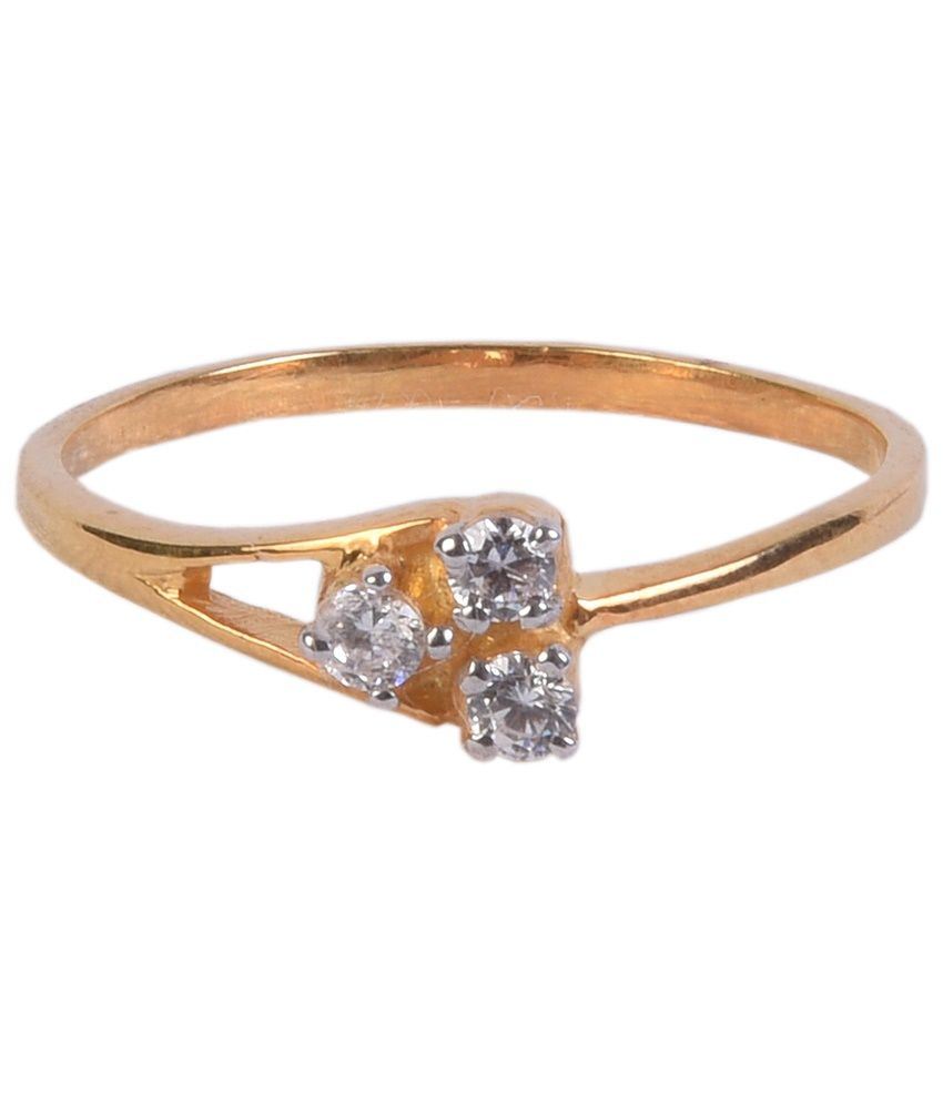Sumukha Remarkable 14kt Gold Plated Diamond Ring