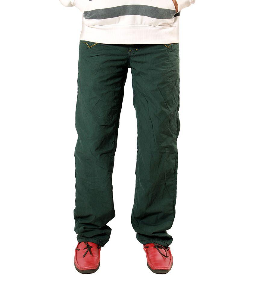 Uber Urben Green Bonded Trouser