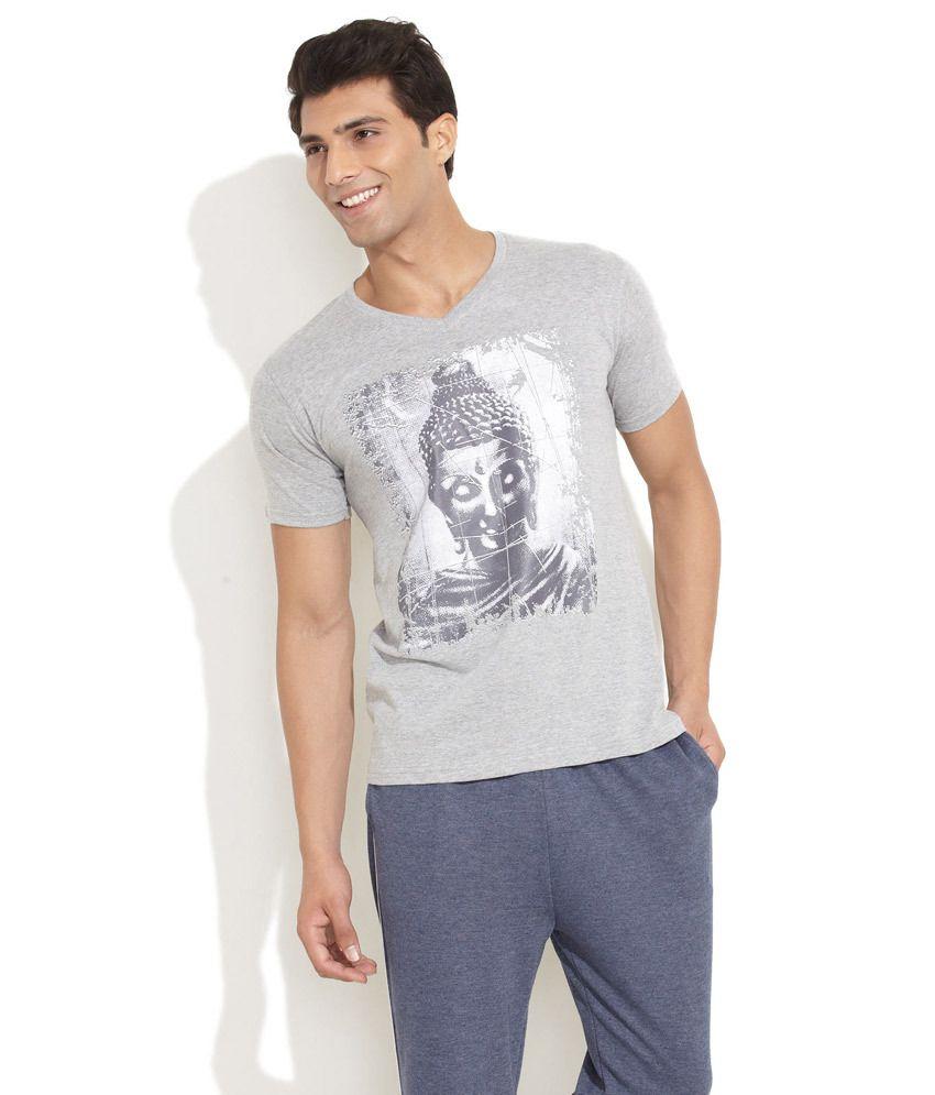 Urban Yoga Light Grey Om Buddha Yoga T Shirt Buy Urban Yoga Light Grey Om Buddha Yoga T Shirt Online At Low Price Snapdeal Com