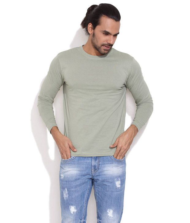 Rattrap Green Solid Everyday T-Shirt