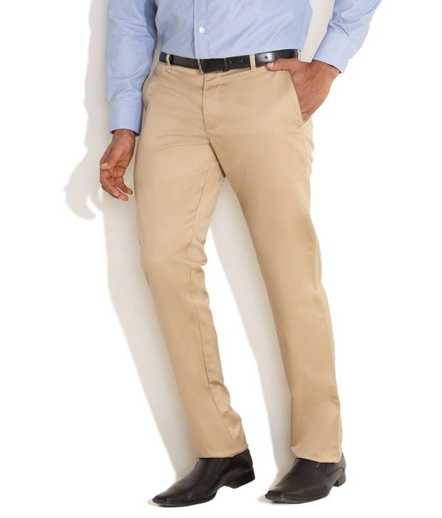 Indigo Nation Beige New Age Formal Trousers