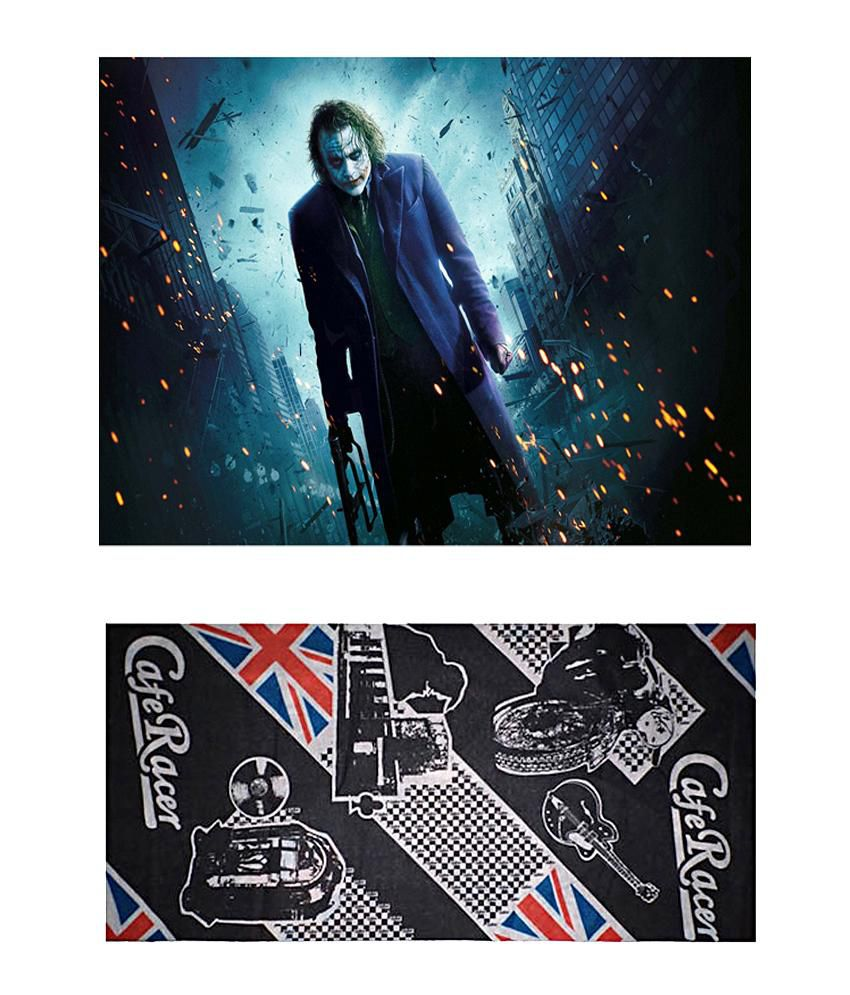 Lycans Cafe Racer Headwrap and  Joker 1 Laptop Skin Cool Combo - LYS200213