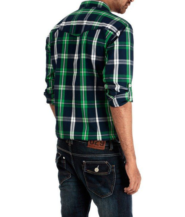 Basics 029 Blue Checkered Shirt