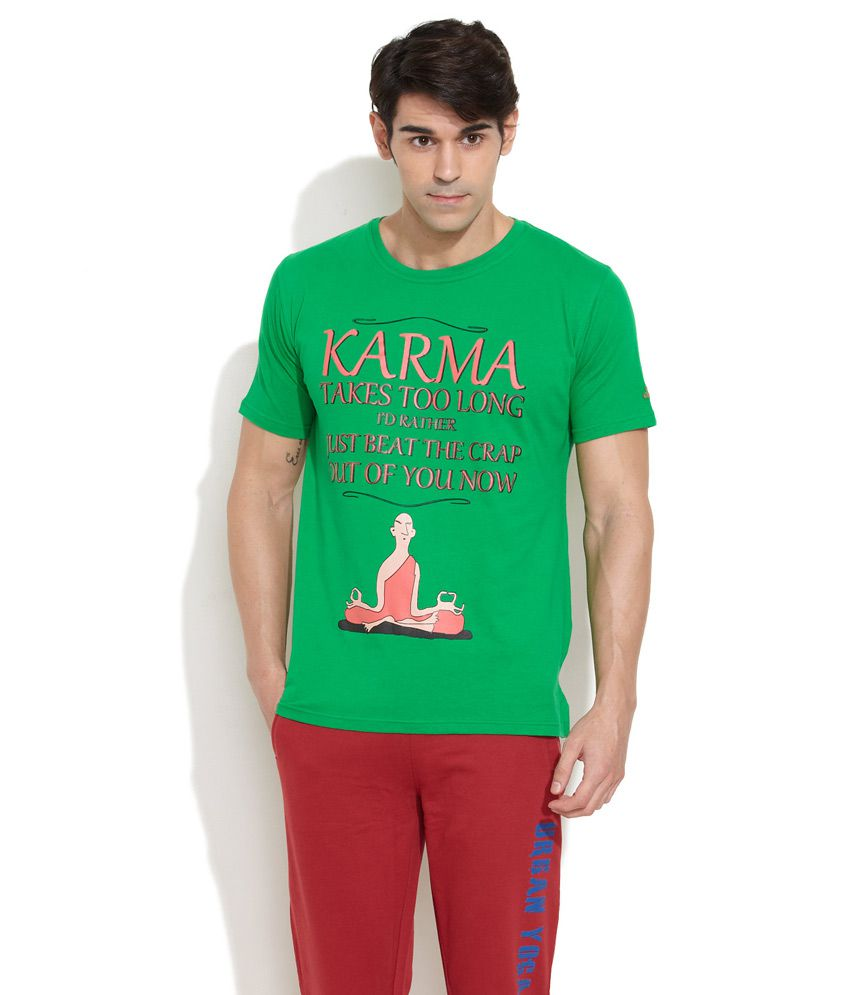 Urban Yoga Green Karma Takes Too Long T-Shirt
